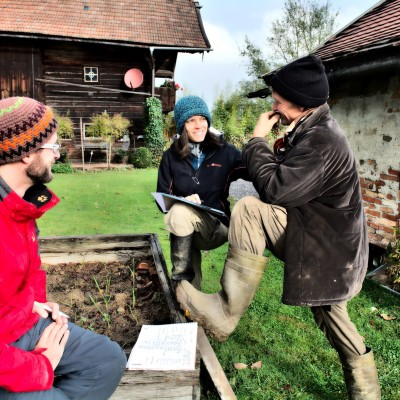 Klemens, Antonia und Michael im Gespräch